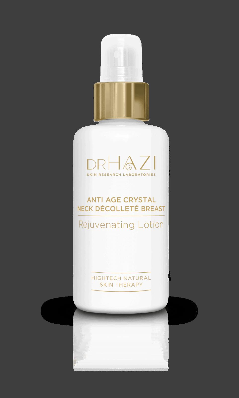 Luxury women skin rejuvenation with nanopeptids and crystals Crystal Neck, Decoltee, Brustverjüngungslotion