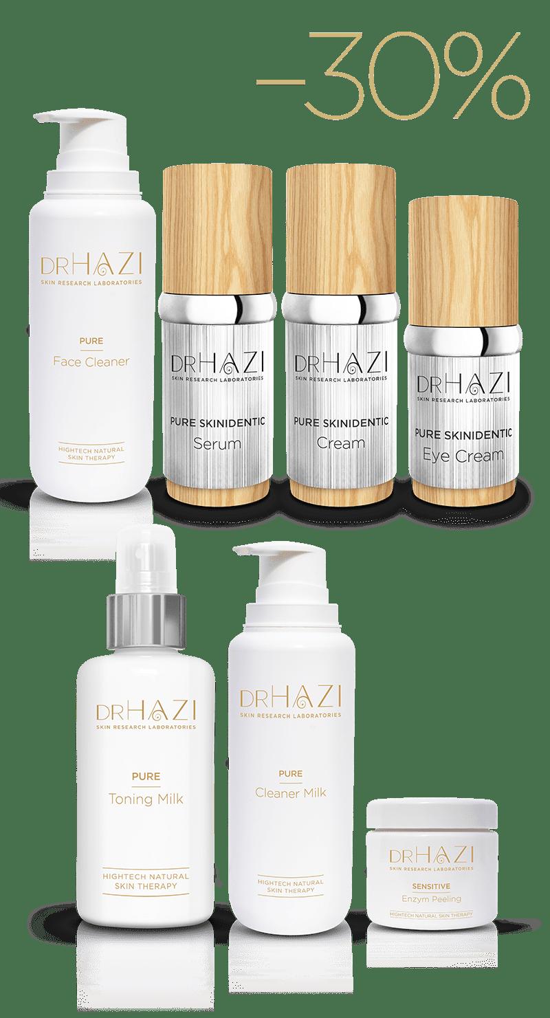 PURE - Hypersensible Hautverjüngung mit Nanopeptiden Hypoallergene Pflegeserie