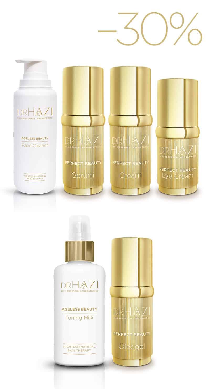 Luxury women skin rejuvenation with nanopeptids and crystals Luxus Szépítő Kezelési Sor